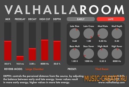 ValhallaDSP - ValhallaRoom VST RTAS 1.11 WIN & OSX (TEAM R2R) - плагин реверберации