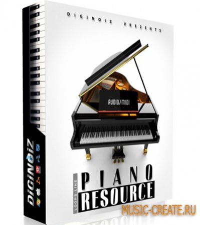 Piano Resource от Diginoiz / FatLoud - лупы пианино (AIF/MID/REX/RFL/WAV)