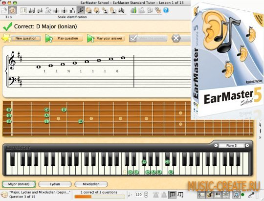 EarMaster School 5.0.0.634SW (Team BEAN) - программа для развития музыкального слуха