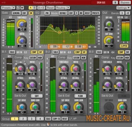 Voxengo - Drumformer VST 1.5 WIN MAC OSX (Team R2R) - плагин многополосной динамической обработки