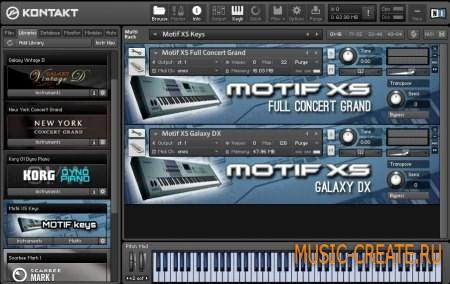 Motif XS Keys Full Concert Grand & Galaxy DX (Kontakt) - библиотека Motif XS Keys