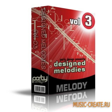 Designed Melodies Vol 3 от Party Design - MIDI и сэмплы House, Electro, Dance (WAV)