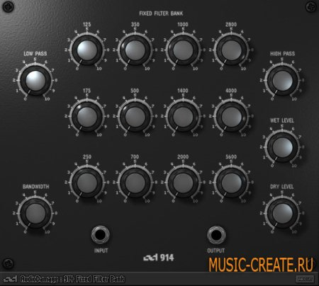 Audio Damage - 914 Fixed Filter Bank 1.1 WiN/MAC (TEAM ASSiGN) - фильтр плагин