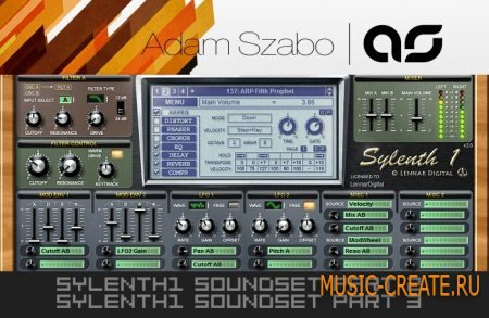 Adam Van Baker - Sylenth1 Soundset Part 2 Part 3 [Final Patches] - пресеты Sylenth1