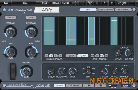 XILS lab - Le Masque Delay v1.1.2 x86/x64  (TEAM ASSiGN) - плагин дэлей