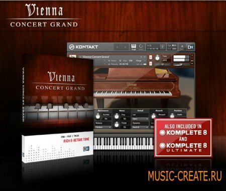 Native Instruments - Vienna Concert Grand v1.4.0 WIN (KONTAKT - DYNAMiCS) - библиотека концертного рояля