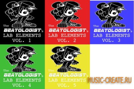 Audiobase - The Beatologist's Lab Elements Vol.1 - Vol.5 Pack (AIFF) - Urban сэмплы