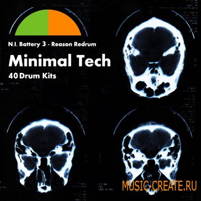 Acid Records - Minimal Tech 40 Drum Kits (N.I Battery 3 / Reason Redrum) - ван-шот сэмплы
