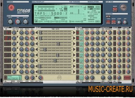PSPaudioware - PSP 608 MultiDelay VST 1.6.0 x86 x64 WIN - плагин дэлей