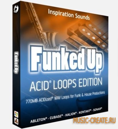 Inspiration Sounds - Funked Up Acid Loops Edition (WAV) - сэмплы Funk