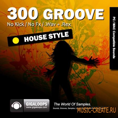 Giga Loops - 300 Grooves House Style (WAV REX) - сэмплы House