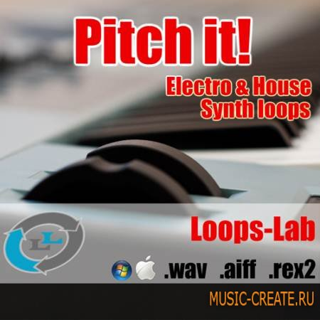 Loops Lab - Pitch it! Electro & House Synth Loops (WAV REX AIFF) - сэмплы Electro House, Dance