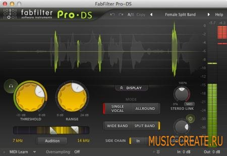 Fabfilter - Pro-DS v1.0 WIN / MAC OSX (TEAM R2R) - плагин дэессер