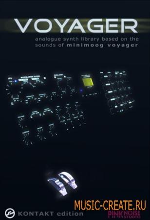 Pinknoise - Voyager Kontakt Edition v1.41 (Kontakt DVDR-KRock) - библиотека звуков Minimoog Voyager