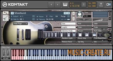 Lyrical Distortion - Silverburst Direct (KONTAKT DVDR) - библиотека электрогитары Silverburst