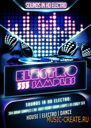 Sounds in HD - Electro 555 (ACiD WAV) - сэмплы Electro House, Dance