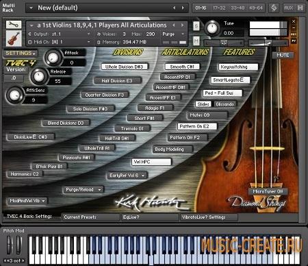 Kirk Hunter - Diamond: Strings Combinations (KONTAKT SCD DVDR-SONiTUS) - библиотека струнных