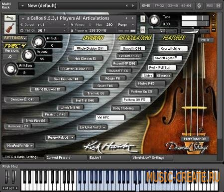 Kirk Hunter - Diamond: Strings Cellos (KONTAKT SCD DVDR-SONiTUS) - библиотека виолончели