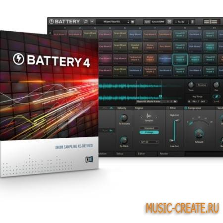 Native Instruments Battery 3 STANDALONE VSTi RTAS v4.1.4 x86/x64 + библиотеки - барабанный сэмплер