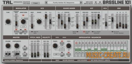 Togu Audio Line TAL-BassLine-101 v1.74 Win/MACOSX (Team R2R) - бас-синтезатор