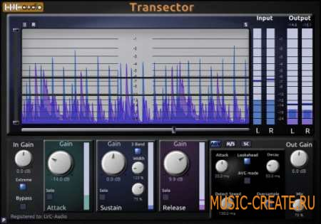 LVC-Audio Transector v1.2.0 (Team R2R) - транзиент-шейпер