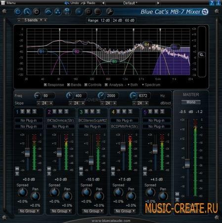 Blue Cat Audio Blue Cats MB-7 Mixer v2.54 WIN / OSX (Team R2R) - плагин многополосной обработки