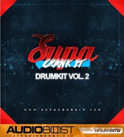 AudioBoost - SUPACRANKIT Drumkit Vol 2 (WAV SF2) - сэмплы ударных
