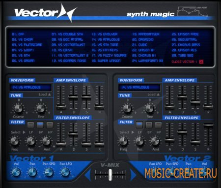 Synth Magic - Vector X (KONTAKT) - библиотека звуков Prophet VS