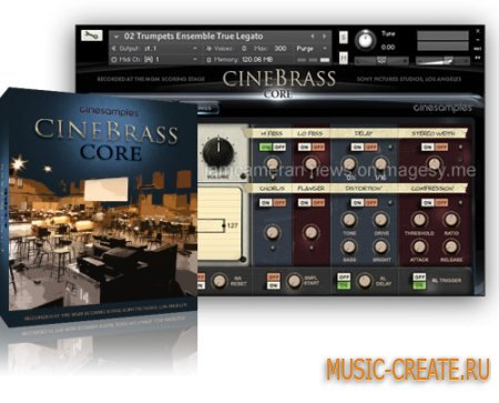 Cinesamples - CineBrass CORE 1.6 Library (KONTAKT) - библиотека звуков медных духовых инструментов