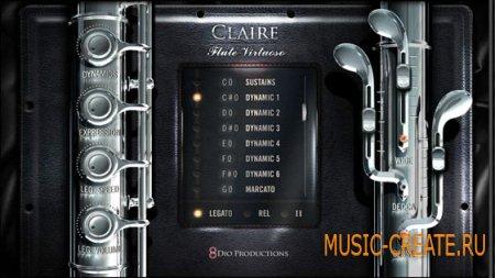 8Dio - Claire Flute Virtuoso (KONTAKT) - библиотека звуков флейты