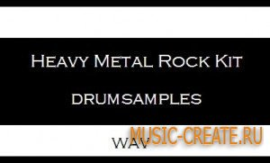 Heavy Metal Rock Kit drumsamples (WAV) - сэмплы ударных