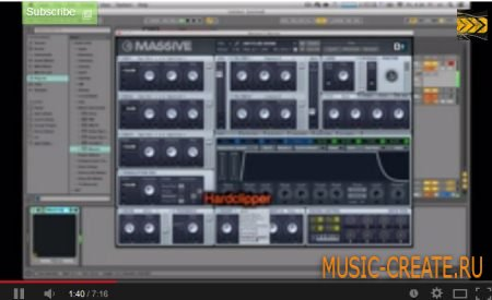 Neurofunk Reese Bass - NI Massive [Ableton live 9] Видеоурок