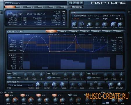 Cakewalk - Rapture v1.2.2 VST x86/x64 Standalone (Team R2R) - синтезатор
