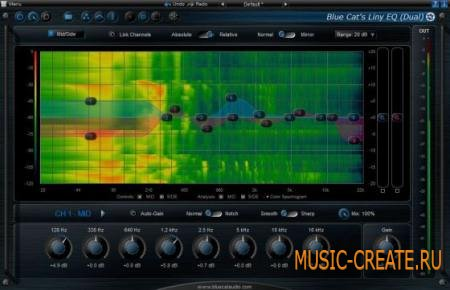 Blue Cat Audio - Liny EQ v5.02 RTAS VST x86 x64 (Team CHAOS) - плагин эквалайзер