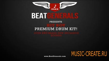BeatGenerals - Hit-Boy Premium Drum Kit (WAV) - драм сэмплы