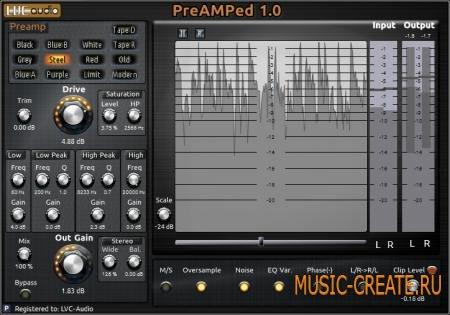 LVC-Audio - PreAMPed v1.0.6 WiN/MAC (TEAM R2R) - эмуляция предусилителей