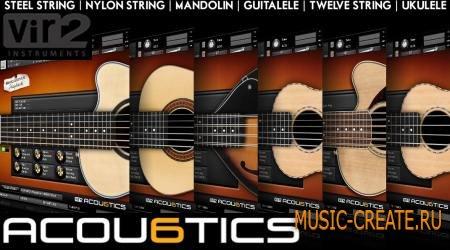 Vir2 Instruments - Acou6tics V1.1 (KONTAKT) - библиотека звуков акустических гитар