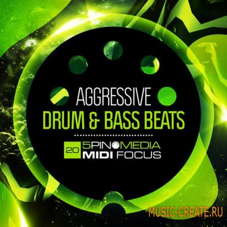 5Pin Media - MIDI Focus: Aggressive Drum and Bass Beats (MULTiFORMAT) - сэмплы Drum and Bass