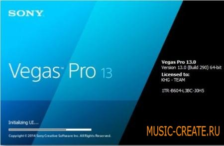 Sony - Vegas Pro v13.0.310 x64 Incl Plugins WiN (MADCATS) - программа для видео/аудио монтажа