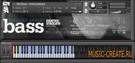 Straight Ahead - Bass v1.0.1 (KONTAKT) - библиотека звуков контрабаса