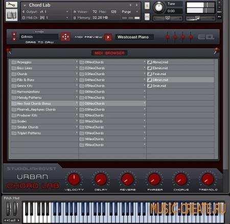 StudioLinkedVST - Urban Chord Lab (Kontakt 5.1) - библиотека звуков RnB,Trap,Maybach