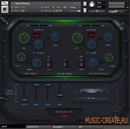 StudioLinkedVST - Urban Synth Lab (Kontakt 5.1) - синтезатор