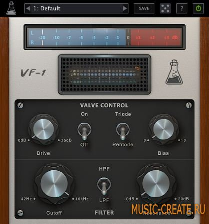 AudioThing - Valve Filter VF-1 v1.5.1 WIN/MAC (Team R2R) - плагин фильтр