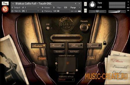 Embertone Blakus Cello (KONTAKT) - библиотека звуков виолончели