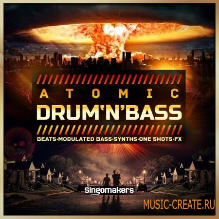Singomakers - Atomic Drum and Bass (WAV REX2) - сэмплы Drum and Bass