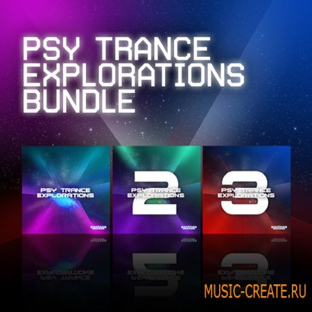 Equinox Sounds - Psy Trance Explorations Bundle Vols.1-3 (WAV MiDi AiFF FXB) - сэмплы Psy Trance