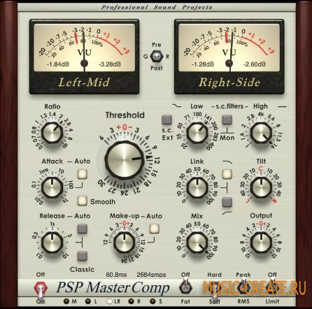 PSP audioware - MasterComp v1.8.0 WiN/MAC (Team R2R) - динамический процессор