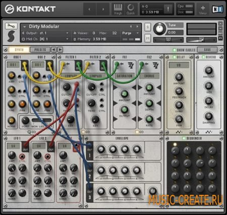 Samplephonics - Dirty Modular (KONTAKT) - гибридный модульный инструмент