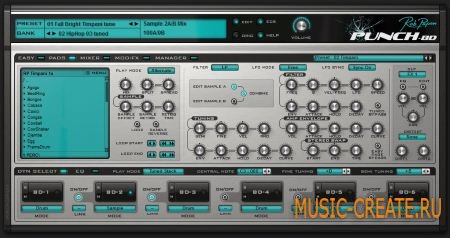 Rob Papen - Punch-BD v1.0.0c (Team R2R) - драм синтезатор