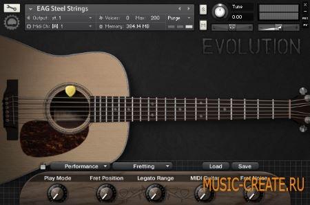 Orange Tree Samples - Evolution Acoustic Guitar Steel Strings (KONTAKT) - библиотека звуков акустической гитары